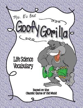 Goofy Gorilla Card Game: Life Science/ Ecosystem Vocabulary