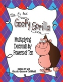 Goofy Gorilla Card Game: Multiplying Decimals by Powers of Ten