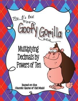 Goofy Gorilla Card Game: Multiplying Decimals by Powers of Ten