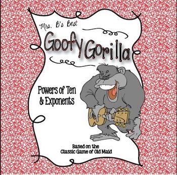 Goofy Gorilla Card Game: Powers of Ten & Exponents