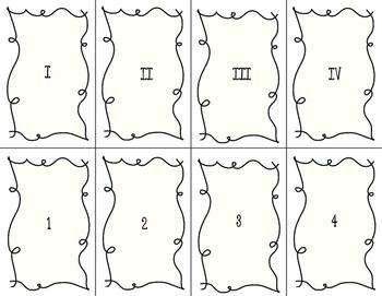 Goofy Gorilla Card Game: Roman Numerals 1 - 25