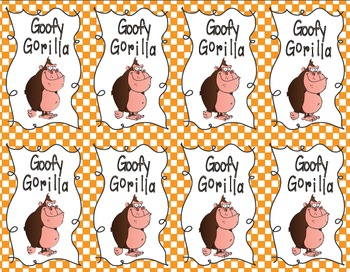 Goofy Gorilla Card Game: Rounding Decimals to the Nearest Whole Number