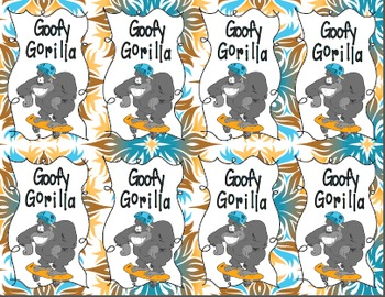 Goofy Gorilla Card Game: Volume of Cubes and Rectangular Prisms