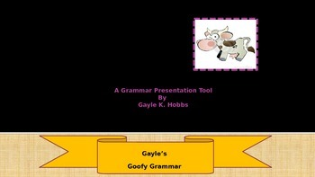 Goofy Grammar Unit 1 What are Prepositions, Conjunctions and Interjections
