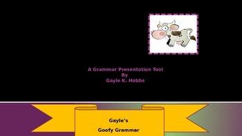 Goofy Grammar Unit 1 What is a Verb?