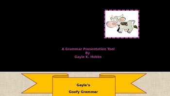 Goofy Grammar Unit 1 What is an adjective?
