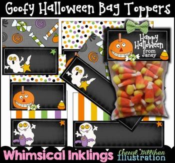 Goofy Halloween Bag Toppers