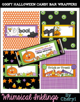 Goofy Halloween Candy Bar Wrappers