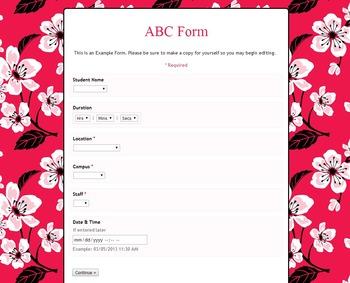 Google ABC Form