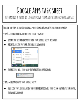Google DRIVE/APPS Task Sheet BELL RINGER - Changing Profile Photos