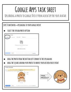 Google Drive Task Sheet Bell Ringer Activity - Changing Google Profile Photos