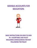 Google Accounts for Education  -  wise use and technology