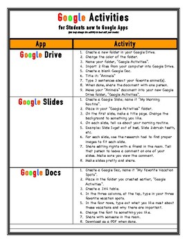 Google Activies for Students