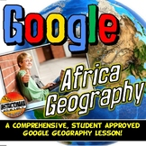 Google Classroom Africa Physical Geography Lesson & Map Activity with Quiz!