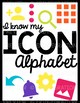 Google Alphabet Cards with Cursive Letters & White Background