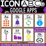 Google Alphabet Cards with Printed Letters & White Background