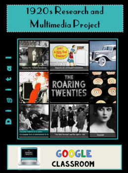 Google Apps 1920s Research and Multimedia Project