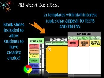 Google Apps All About Me eBook for Teens and Tweens!