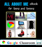 All About Me eBook for Teens and Tweens! Back to School and Google Classroom