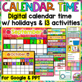 Build a Digital Calendar Time with Holidays Distance Learning for Google Slides