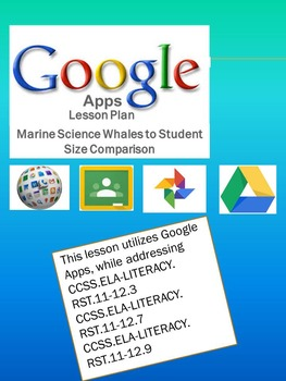 Google Apps Whale to Student Size Comparison-Common Core Standards Based
