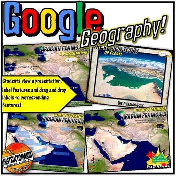Google Earth Arabian Peninsula Geography Lesson, Exploration & Scavenger Hunt