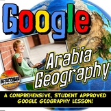 Google Classroom Arabian Peninsula Geography Lesson & Map Activity with Quiz!