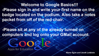 Google Basics Professional Development