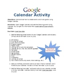 Google Calendar Activty