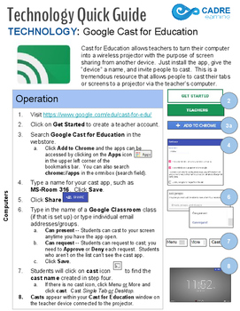 Google Cast for Education Quick Tech Guide