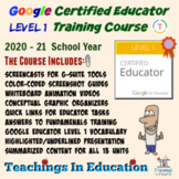 Google Certified Educator Level 1 Training Course