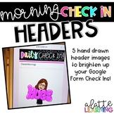 Google Check In Doodle Headers