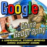 Google Classroom China Physical Geography Lesson & Map Activity with Quiz!