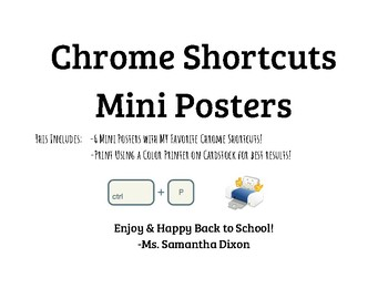 Google Chrome Shortcuts Mini Posters