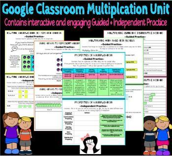 Google Classroom Multiplication Unit