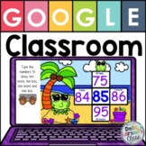 Google Classroom 10 More 10 Less Math Center with EASEL