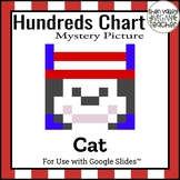 Digital Hundreds Chart Mystery Pictures - Cat