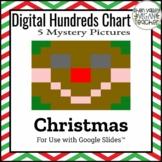 Digital Hundreds Chart Mystery Picture - Pixel Art - Gingerbread