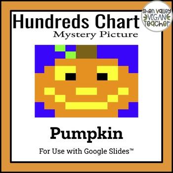 Google Classroom 100's Chart Hidden Picture - Pumpkin