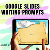 Google Classroom™ Writing Activities Prompts (messages in the bottle)