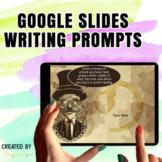 Google Classroom™ Writing Activities Prompts (Steampunk)