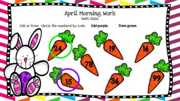 Google Classroom 1st Grade April Morning Work