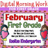 Google Classroom 1st Grade February Morning Work