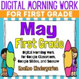 Google Classroom 1st Grade May Morning Work