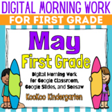 Google Classroom 1st Grade May Morning Work