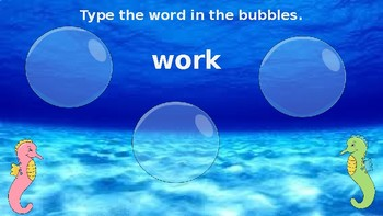 Google Classroom: 1st Grade Word Work