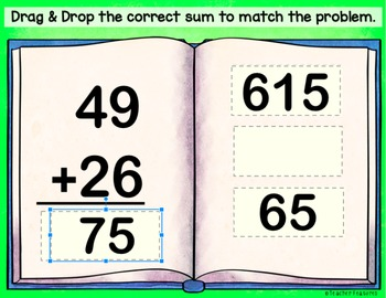 Google Classroom MATH | 2-Digit Addition | Digital Task Cards