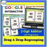 Google Classroom Math 2-Digit Addition Task Cards