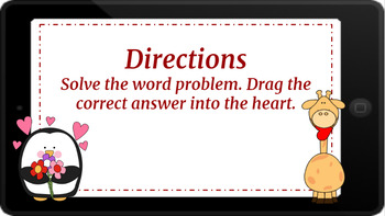Google Classroom: 2 Digit Word Problems- Valentine's Day