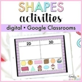 Google Classroom™ 2D/3D Shapes Unit Digital - Distance Learning